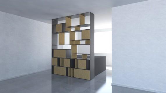 על עיצוב רהיטים וספריה אחת
